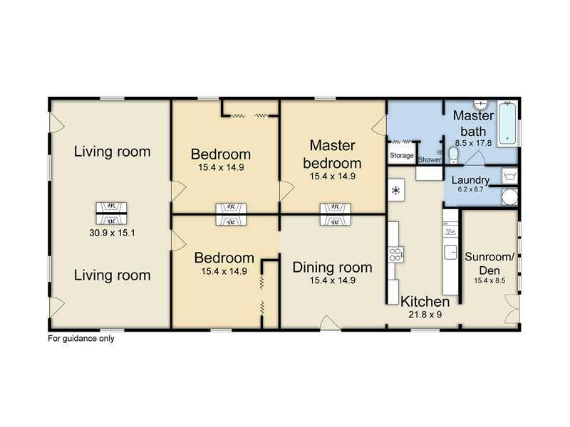 Shotgun Floorplans NOLA Kim – Shotgun Home Floor Plans