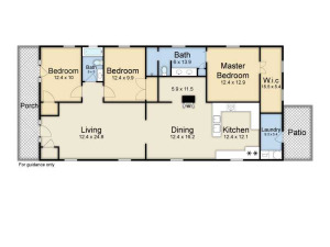 My Favorite Four Bay floor plan. They created a foyer (absent in shotguns) with two new closets and created a public bathroom that is still semi private for the two bedrooms. Almost no wasted space here.