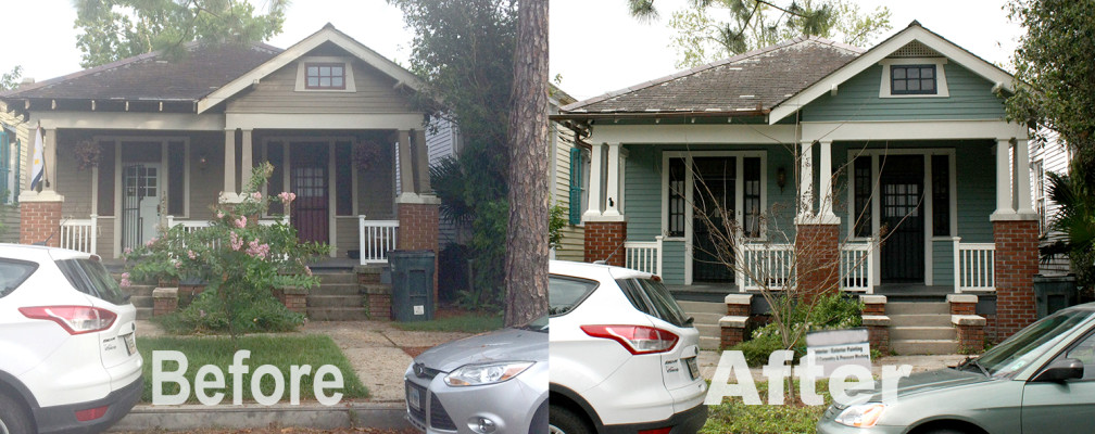 Exterior Before and After Paint Job